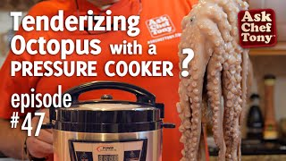 Purchase a PPC XL at 10% off regular price click here and enter promo code POWER16: http://pressurecookerdeal15.comThis channel does receive commission on purchases through this link from Tristar Products.Let's try something new. Today we are trying a new method to tenderize octopus - pressure cooker. We are reviewing the PPC XL pressure cooker from Tristar Products to see what benefits we might get using this technique. The pressure cooker has been quite a fun new toy and we'll be seeing what other recipes this tool might be ideal for... comment us on any dishes you're curious to have us try out using this.OFFICIAL WEBSITE: http://www.askcheftony.comepisode blog post: http://wp.me/p2lAo7-ny