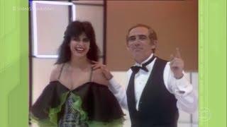 """Participação de Gretchen em """"Os Trapalhões"""" em 1985."""