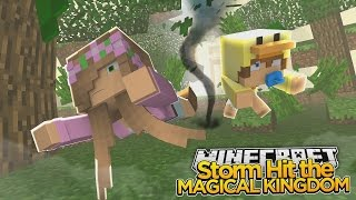 Minecraft - Little Kelly : HUGE STORM HITS THE CASTLE!
