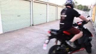 6. Aprilia SR50R - Malossi MHR Team 2 Power Wheelies