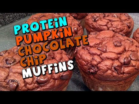 PROTEIN Pumpkin Chocolate Chip Muffins Recipe (Low fat/carbs!)