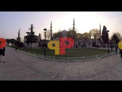 360 derece kamera ile yapılan İstanbul stok görüntü çekimleri.