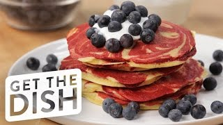 Cake Mix Pancakes With What's Up Moms | Get the Dish by POPSUGAR Food