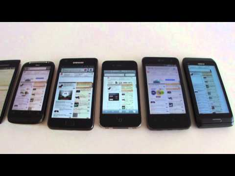 Displays: SE XPERIA arc vs HTC Desire S vs LG Optimus 2X vs iPhone 4 vs Samsung Galaxy S II vs E7