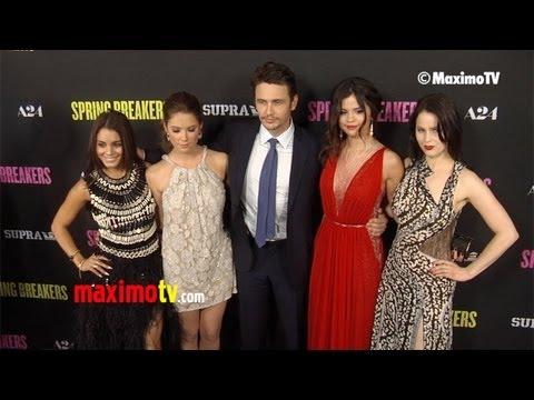"""Selena Gomez, Vanessa Hudgens, Ashley Benson, James Franco """"Spring Breakers"""" LA Premiere"""