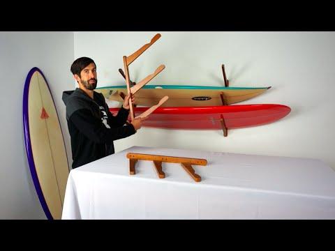 Surfboard Rack | Triple Wood Cor | StoreYourBoard