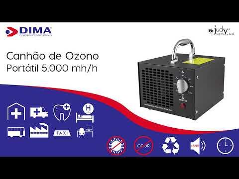 Canhão de Ozono 5.000 mg/h
