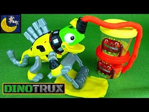 Dinotrux Toys Play Doh Revvit and Garby Unboxing Dinosaur Toy Videos Compilation for Kids