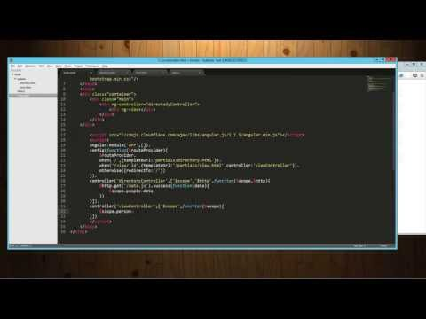 Routing tutorial in AngularJS