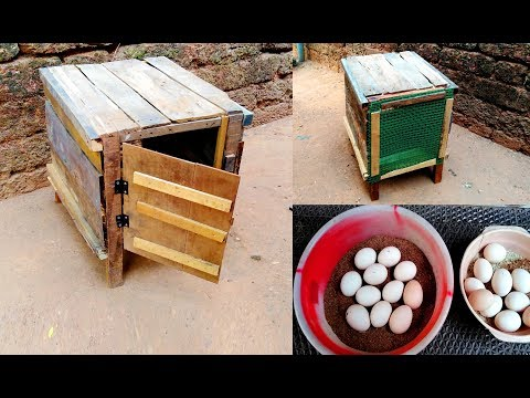 Making Mini Chicken Cage For Hatching Eggs   How To Make Chicken Cage At Home