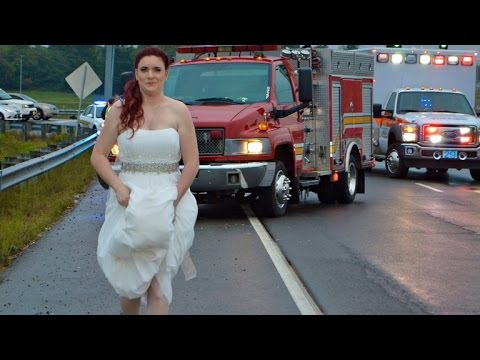 Paramedic Bride Rescues Guests in Car Crash While Still Wearing Wedding Dress