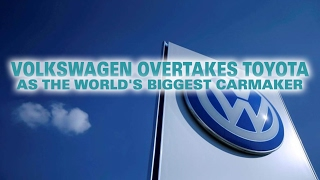 Volkswagen Overtakes Toyota As The World's Biggest Carmaker.Volkswagen has overtaken Toyota to become the worlds best selling carmaker, the first time the German company has held the position. Japans Toyota, which had topped sales for the past four years, sold 10.175 million vehicles globally in 2016. That fell short of the 10 point 31 million sales which VW reported last week. The milestone comes despite V Ws scandal over emissions tests cheating, which sparked a global backlash and multiple lawsuits. Volkswagen, which makes the Audi, Porsche and Skoda brands, saw a 3 point 8 percent increase in sales buoyed by demand in China. And it has been making inroads in other markets too. In Sweden for example, the Volkswagen Golf was the most popular new car in 2016 the first time in more than half a century that a Volvo had not topped the countrys sales. Toyotas sales grew by 0 point 2 percent though it appears to have suffered from a slowdown in the US car industry. General Motors reports its figures next week, but it is expected to lag both the Japanese and the German firms. GM was the worlds third largest carmaker in 2015. It held the number one title in 2011 after Toyotas production was hit by a massive earthquake and tsunami in north-eastern Japan.========= Join Us ============** Channel Link : http://bit.ly/2aUXmso** HGTV Dream Home: https://youtu.be/E7dexSblJD4** It's So Hot Out Cockroaches Might Start Flying in NYC: https://youtu.be/p_4sXyQHoms** Bones may belong to teen sacrificed to Zeus: https://youtu.be/BvzMY2JM-2Q** Chimney Fire burns 850 acres near Nacimiento Lake: https://youtu.be/N7Xav9guuOI** Hundreds of Tiny Montserrat Tarantulas Hatch in Zoo: https://youtu.be/BtglHldFhVQ** Bill Clinton Talks Email Controversy: https://youtu.be/DHE1pCdQgNE** Donald Trump Recruits Election Observers to Avoid a 'Rigged' Election: https://youtu.be/hkbfqrS2aIg** Historic' Louisiana Floods: https://youtu.be/OiyVaDKDVJ0** 2 wildfires in California send residents fleeing from homes: https://youtu.be/tQ9jbs1JNE0** Virginia Plane Crash - 6 Victims Identified: https://youtu.be/6xAgbVb1mO0** Explosion of Steam Pipe at Chinese Power Station Kills 21: https://youtu.be/VImgTAFR2RY** Huge fire and explosion destroys Md. apartment complex: https://youtu.be/Dm6JbfpxD18** Pilot fire grows to more than 7,700 acres: https://youtu.be/m98zL5CkyCM** Blind Kid Throws D backs First Pitch in Game: https://youtu.be/auBKq18TuiQ** Kuznetsov Scores World Class Goal ● Ice Hockey: https://youtu.be/vqZtuVe4YSM** Stipe Miocic knocks out Fabricio Werdum : https://youtu.be/1y0ZD3Y0NS0