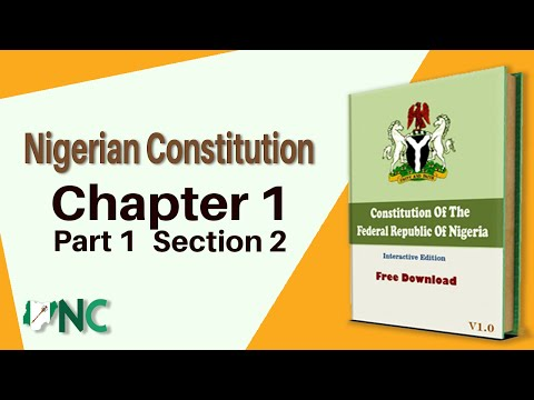 Nigerian Constitution, Chapter 1, Part 1, Section 2 (1 & 2)