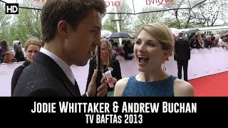 Colin Hart interviews actors Jodie Whittaker & Andrew Buchan at the 2013 TV BAFTAs at the Royal Festival Hall in London.
