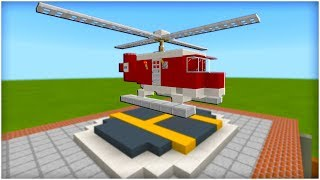 "Minecraft Tutorial: How To Make A Fire and Rescue Helicopter ""2019 City Tutorial"""