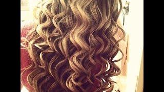 прически завитые волосы фото