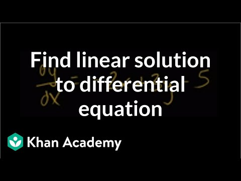 Particular - Finding particular linear solution to differential equation.