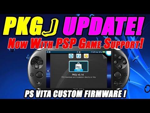 PKGJ INSTALL UPDATE! PSP Games Support! PS Vita Custom Firmware! Adrenaline Bubble Manager!