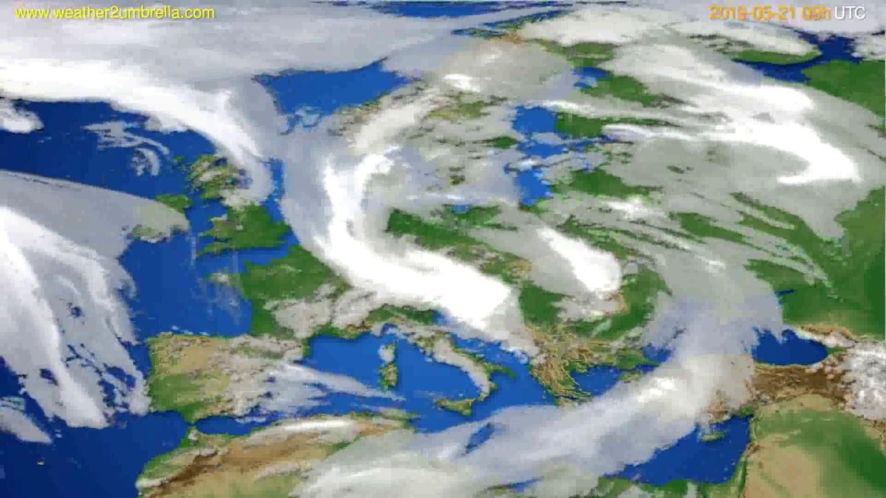 Cloud forecast Europe // modelrun: 12h UTC 2019-05-19