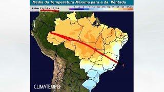 Uma grande frente fria está prevista para chegar no fim de semana e mudar o tempo em muitas áreas do Brasil. A massa polar dessa frente fria também será forte. Acompanhe no mapa como fica o tempo nos próximos dias.