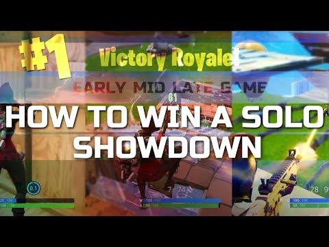 How to win a Solo Showdown! Fortnite Competitive Mode