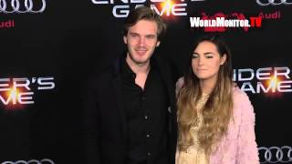 Pewdiepie And Marzia Kiss 2016