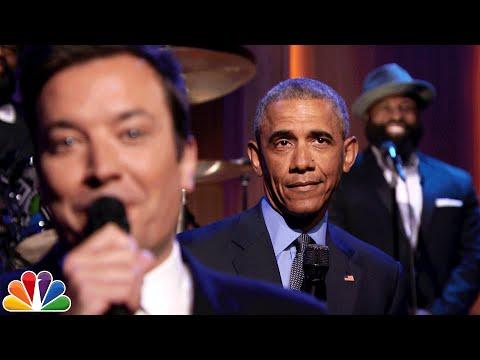 باراك أوباما يغني الأخبار على إيقاعات هادئة ويرقص على Work لريانا