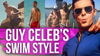 Celeb Guys' Swim Style (Dirty Laundry) by Clevver Style