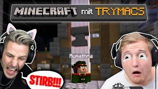 TRYMACS & REWI vollstrecken ihre ersten TOD durch AMBOSS! Minecraft mit TRYMACS!