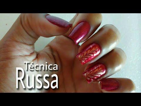 Unhas decoradas fáceis de fazer, técnica russa
