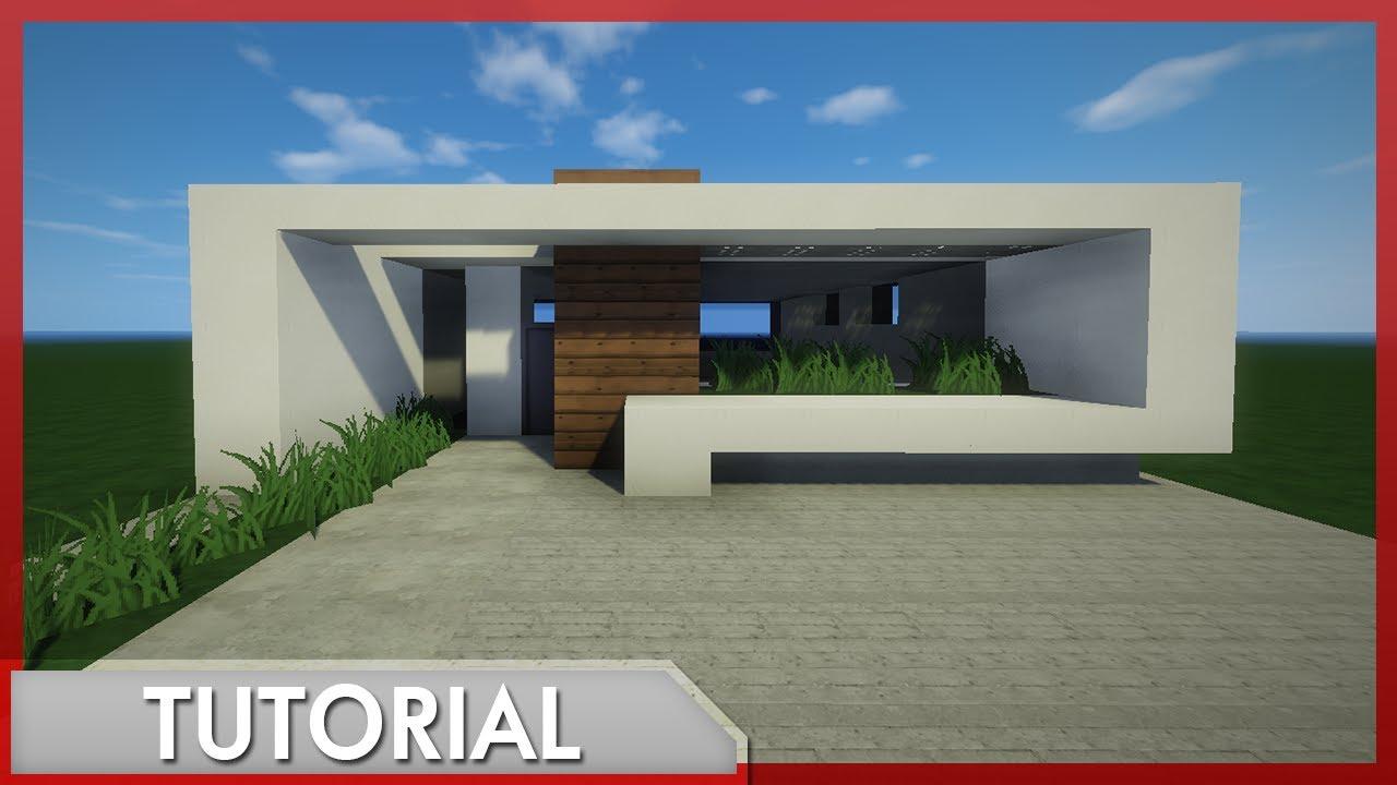 Minecraft como hacer una casa moderna r pida y sencilla for Casa moderna 5 mirote y blancana