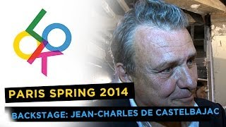 Jean-Charles De Castelbajac Backstage: Paris Fashion Week Spring 2014