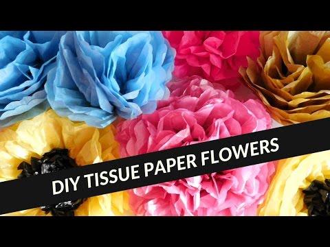 Diy jumbo tissue paper flower video tutorial sharifa creates mightylinksfo