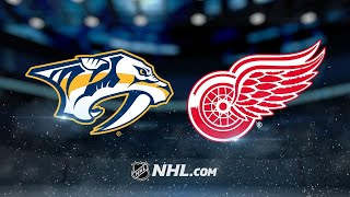 Arvidsson, Josi key Preds' 3-2 win against Red Wings by NHL