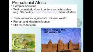 Video lecture - African colonization 1
