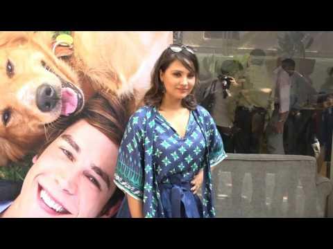 Lara Dutta & Sneha Ullal At Special Screening Of Film A Dogs Purpose