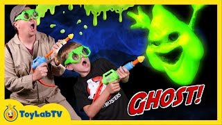 It's Messy Slime time in this funny family fun adventure video for kids! Ghost Chaser Aaron battles in real-life with a scary T-rex ...