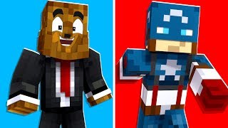 Minecraft - Captain America Is The STRONGEST Superhero In Crazy Craft | JeromeASF