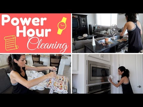 CLEAN WITH ME | POWER HOUR CLEANING | SAHM (видео)