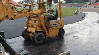 Athletic Running Track Surface Installation Material Product (Spray-coat System,IAAF certificated) youtube video