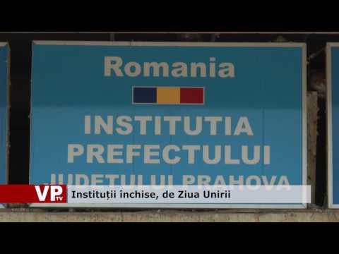 Instituții închise, de Ziua Unirii