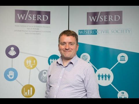 Karl Wilding, Director of Public Policy, National Council for Voluntary Organisations (NCVO), delivers his keynote speech at the WISERD 2015 Annual Conference