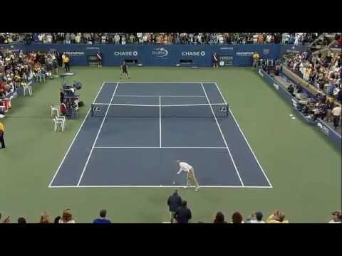 Novak Djokovic imitates John McEnroe – US Open 2009 (tennis imitation)