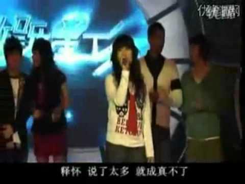 一個女孩模仿八個女藝人三個卡通人物唱歌~太像了!!