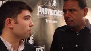 Craig Belhumeur with Ed Cooley – PC Media Day 2014