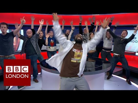 When the BBC News dancing man came to BBC London