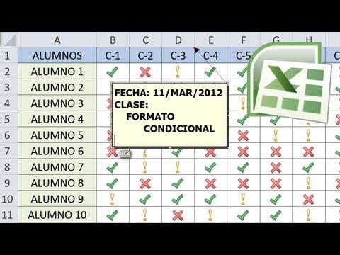 Tutorial de Excel - 4 ejemplos de Formato Condicional - Lista de Asistencia