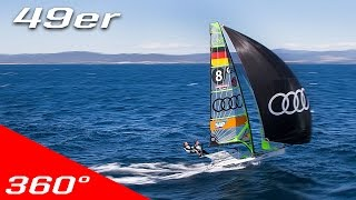 Join two of the best athletes in 49er class of sailing, Erik Heil & Thomas Plössel, hanging in the trapeze at close to maximum speed as they train for the 2016 Rio Olympics. The German team shows you the pace it takes to be competitive and achieve an olympic medal.Athletes: Erik Heil & Thomas PlösselWhen: 2016Where: Hyeres, FranceMade by: Making View ASMade for: Audi SailingMaking View.A 360° VR production studio and agency.With our devoted software team, we create industry leading custom VR players, apps and 3D environments.Our artists and producers script, capture, stitch, edit, color grade, sound design and masters your content with skillful integrity.From acquisition through post production and distribution; We make your 360° VR project shine.Our vision towards the VR experience; Like being there.Follow us on Facebook! https://www.facebook.com/makingviewFollow us on Instagram! https://www.instagram.com/makingview.as/Follow us on Vimeo! https://vimeo.com/makingviewContact us: post@makingview.com