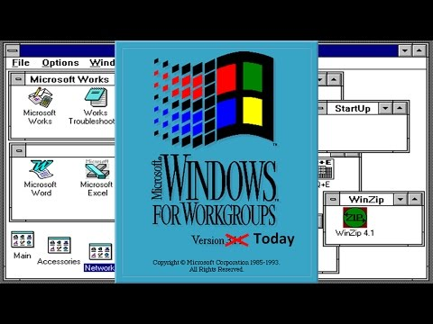 Using Windows 3.11 for the First Time!