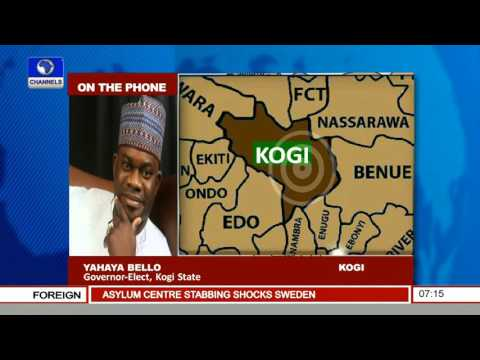 Yahaya Bello, Governor-Elect Kogi Speaks On Upcoming Inauguration 27/01/16